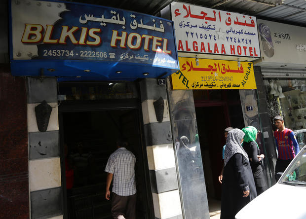 Displaced Syrians find refuge in hotels