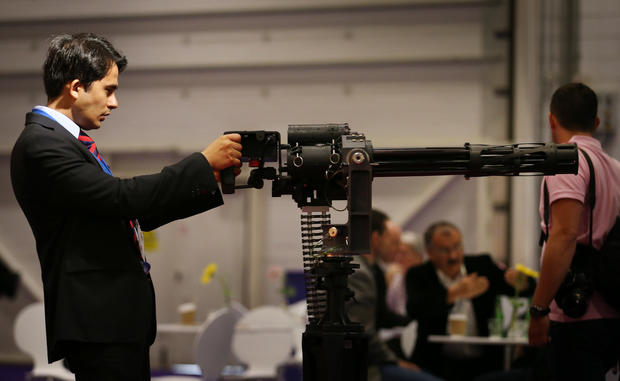 Modern military tech at the London arms expo