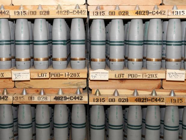2010年1月21日,位于科罗拉多州普韦布洛的陆军普韦布洛化学仓库的一个掩体中储存了一百五十毫米含有芥子气的炮弹。
