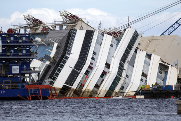 Raising the Costa Concordia