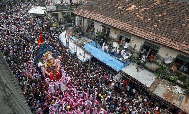 Hindus celebrate Ganesha - the elephant-headed god