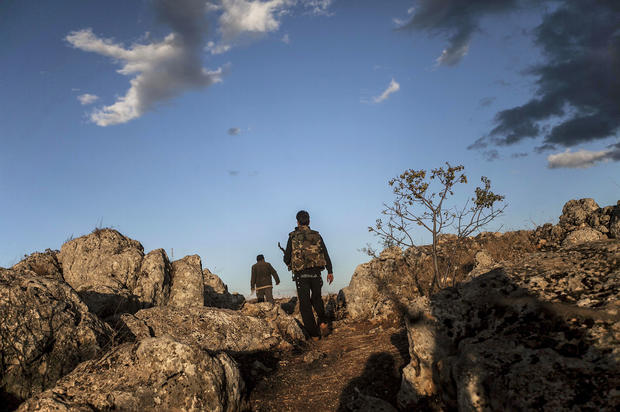 Holdouts in a Syrian ghost town