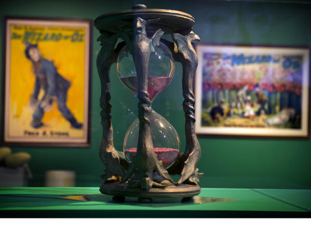 "The hourglass used in the movie ""The Wizard of Oz"" is displayed at the Farnsworth Museum in Rockland, Maine."