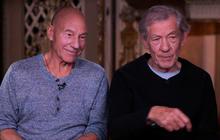 "Web extra:  Patrick Stewart and Ian McKellen on ""X Men"" & wizards"