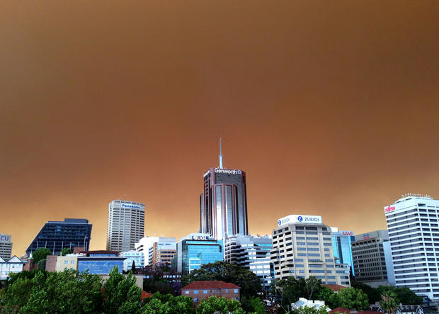 Bush fires burning in Australia
