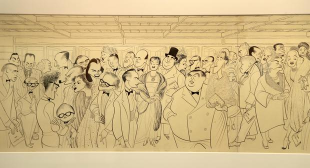 Hirschfeld's drawings on display