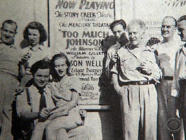 The Mercury Theater on the Air, a drama company founded by little-known director Orson Welles.