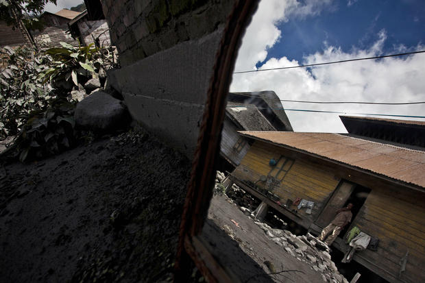 Villagers stranded by volcano