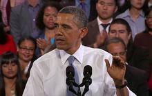 Obama gets heckled during immigration speech