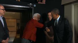 Obama meets Steve Martin, Jim Parsons at DreamWorks Animation