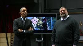 Obama gets a tour at DreamWorks Animation studios