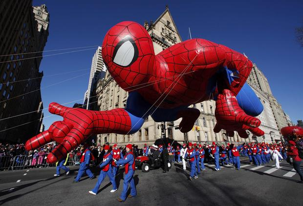 Macy's Thanksgiving Day Parade balloons take flight
