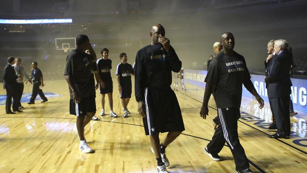 Minnesota Basketball Court Basketball Court During a