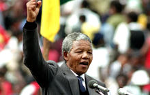 Mandela emerged from a village to become defining figure