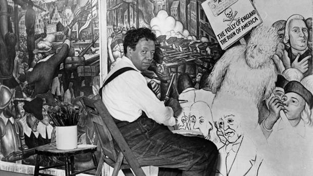 Almanac diego rivera cbs news for Diego rivera mural new york rockefeller