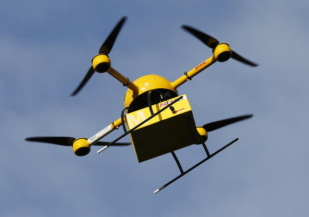 "See DHL's futuristic ""parcelcopter"" drone deliver packages"