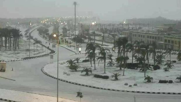 Snow in Cairo