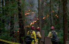 Calif. firefighters gain against rare December wildfire