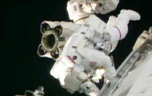 Spacewalk brings progress and a new problem