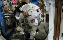Spacewalk success: Astronauts replace refrigerator-size pump