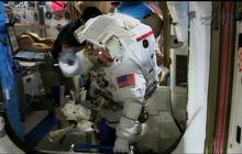 Spacewalk success: Astronauts replace refrigerator-size pump