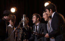 """The Punch Brothers, Marcus Mumford sing """"The Auld Triangle"""""""