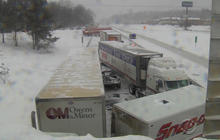 Latest winter storm disrupts travel, over 1M lose power