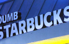 """Headlines at 8:30: """"Dumb Starbucks"""" parodies a Starbucks coffee shop"""