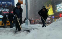 Snow moves out, but misery persists for millions