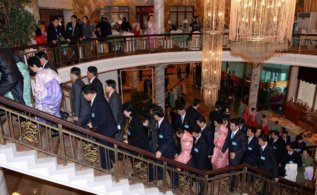 Tearful reunions in North Korea
