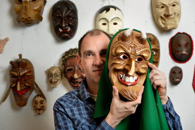 Inside a carnival mask workshop