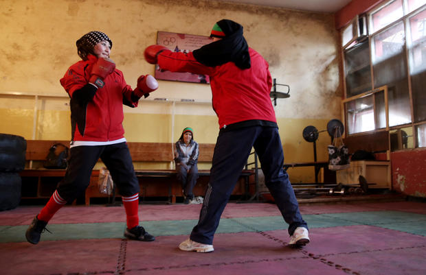 Women boxers of Afghanistan