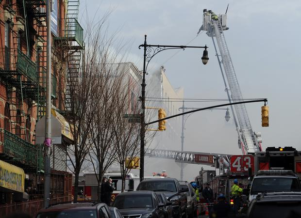 Explosion collapses NYC buildings