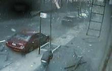 Harlem building explosion caught on tape