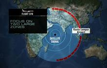 Missing Malaysia Airlines search focusing on two possible paths