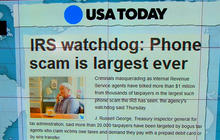 Headlines: Phone scam largest in IRS history