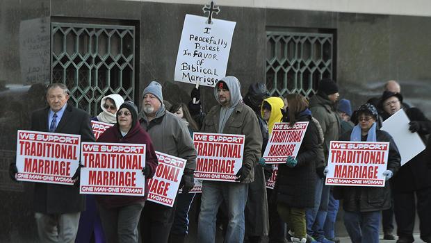 位于密歇根州的同性恋婚姻protest.jpg