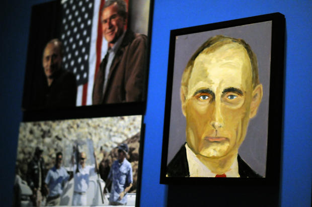 George W. Bush paints world leaders