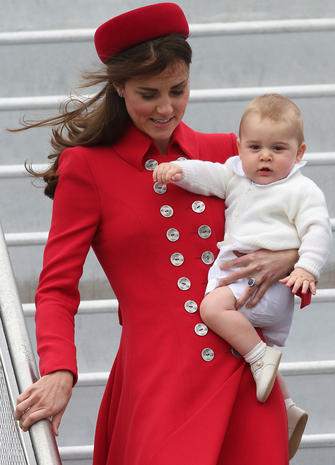 Prince William, Kate and Prince George in New Zealand