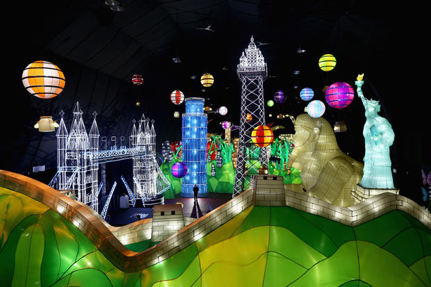Massive illuminated park opens in England