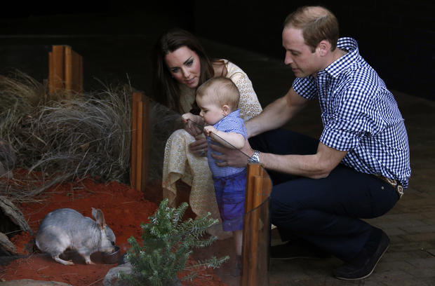 Will, Kate and baby George go Down Under