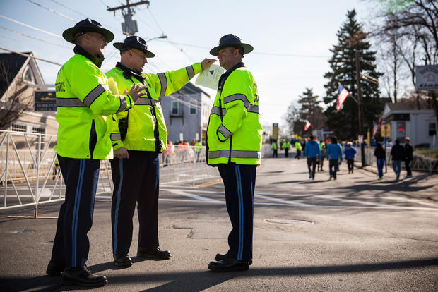 "Tight security for ""Boston Strong"" marathoners"