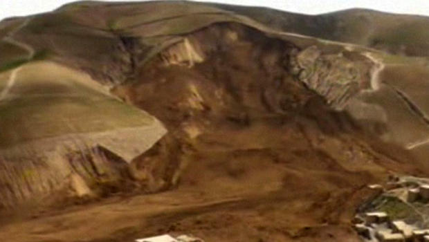 A landslide buried the village of Hobo Barik in Badakhshan province in northeastern Afghanistan May 2, 2014.
