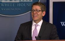 "Jay Carney mocks ""Doctor"" Karl Rove's Hillary Clinton diagnosis"