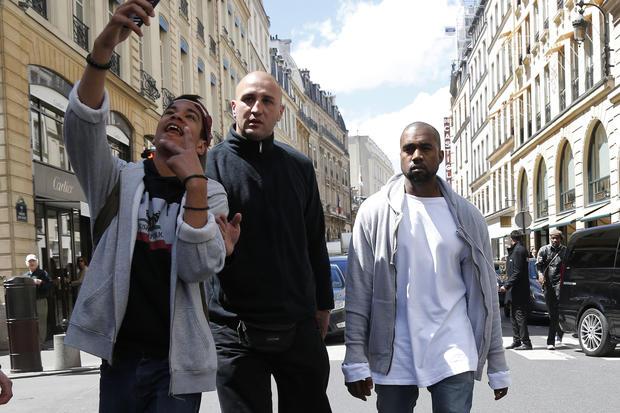 Kim and Kanye in Paris