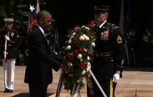 Obama lays Memorial Day wreath on Tomb of the Unknown Soldier