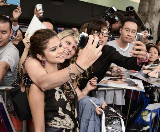 Celebrity selfies