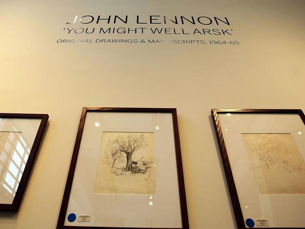 John Lennon drawings up for auction
