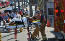 Shark attacks swimmer off coast of California beach