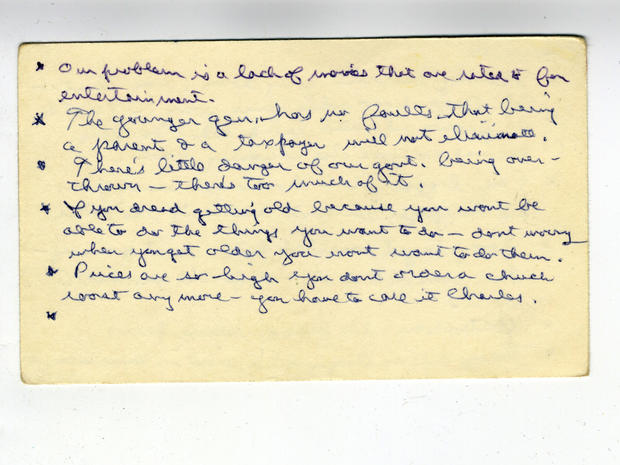 Ronald Reagan's index cards of one-liners